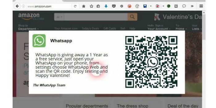 Detectado phishing en la versión web de Whatsapp