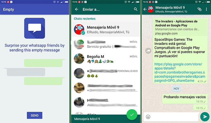 Empty whatsapp