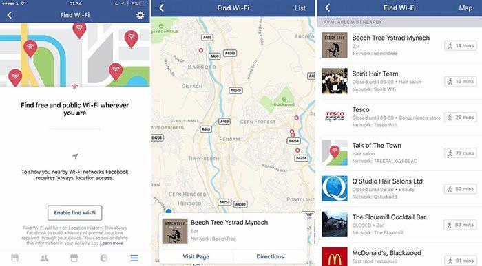Facebook y el Wi-Fi