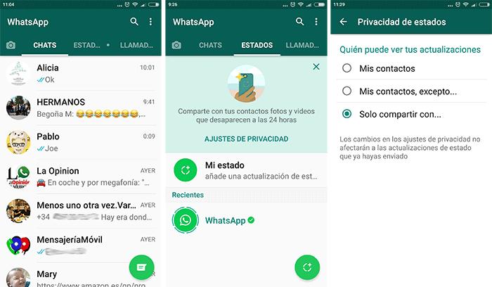 whatsapp estados españa