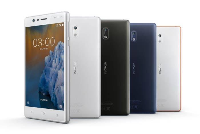 Nokia 6, Nokia 5 y Nokia 3