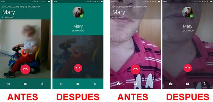 imagen whatsapp nueva interfaz llamadas