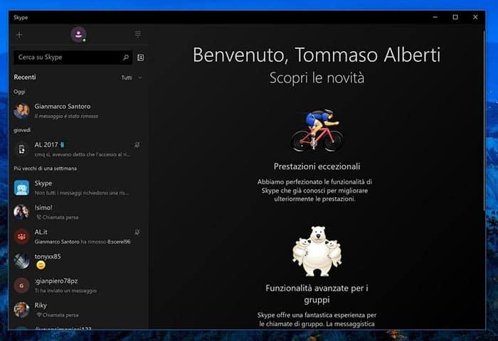 imagen actualización de Skype