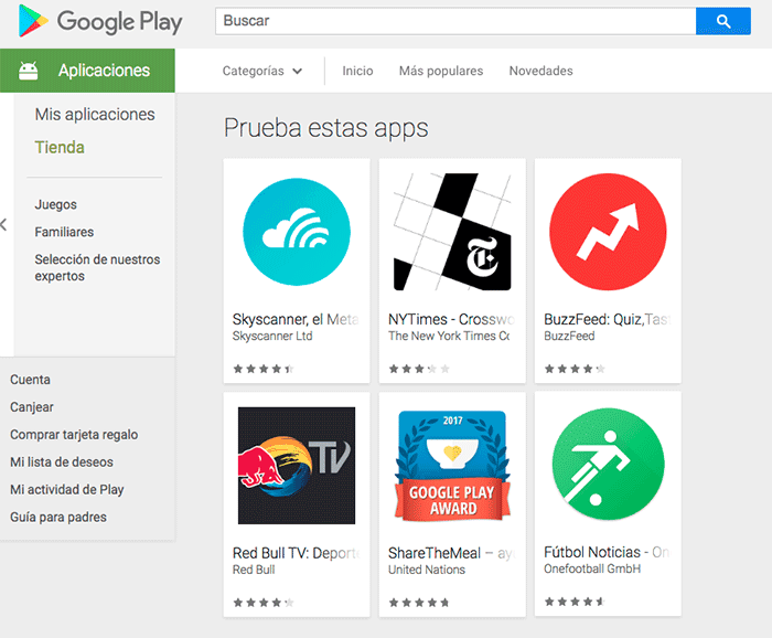 imagen Instant Apps de Google Play