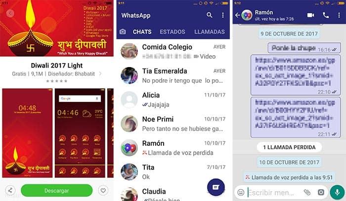 azul en WhatsApp con los Xiaomi