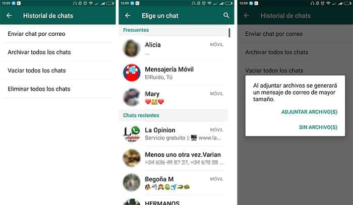 imágenes imagen WhatsApp compartir tus conversaciones sin capturas