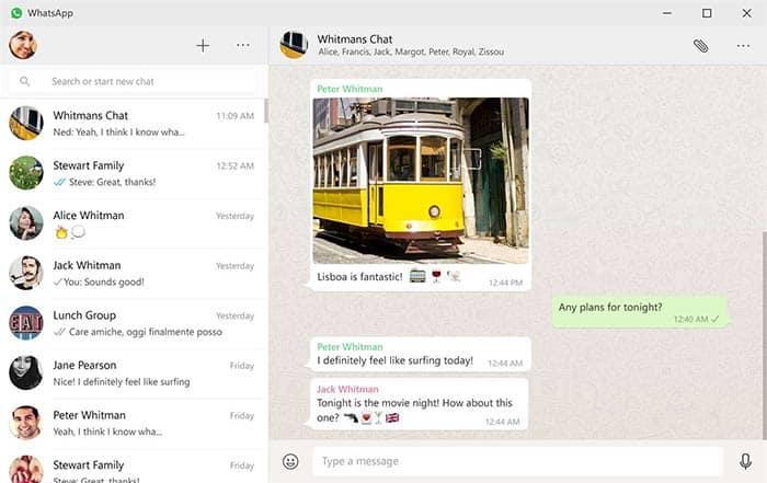 imagen WhatsApp para Windows 10