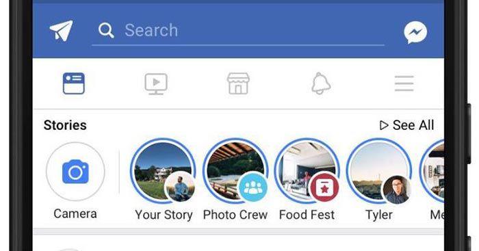 imagen Facebook Historias para grupos y Eventos
