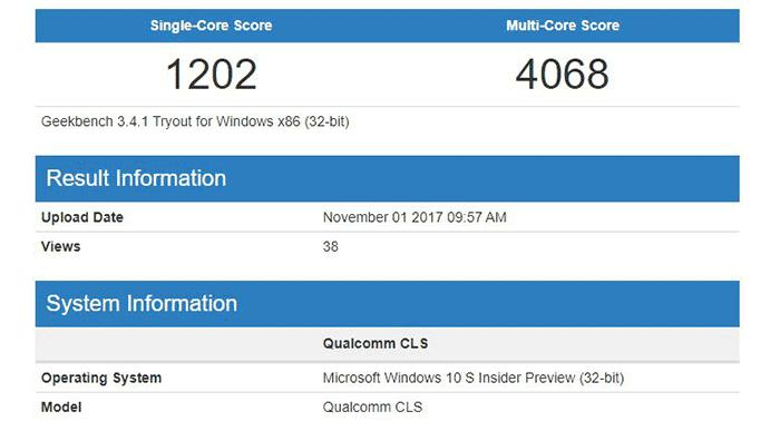 imagen resultados Windows 10 en ARM