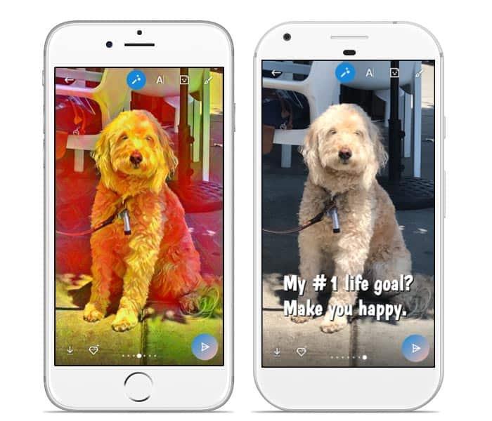 imagen efectos Skype para Android