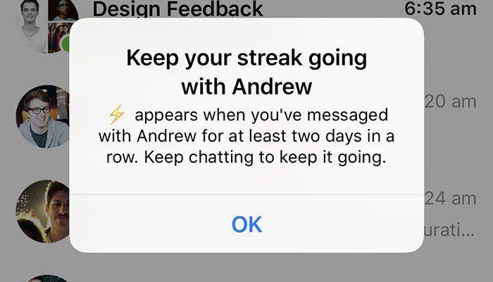 imagen streak de facebook messenger