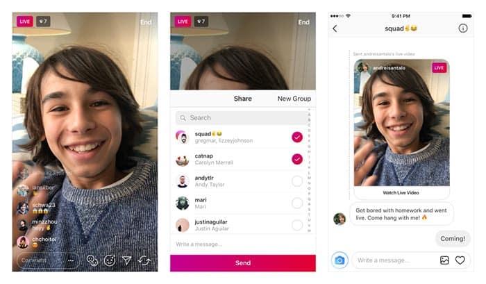 imagen Instagram lanza el envío de vídeos en vivo