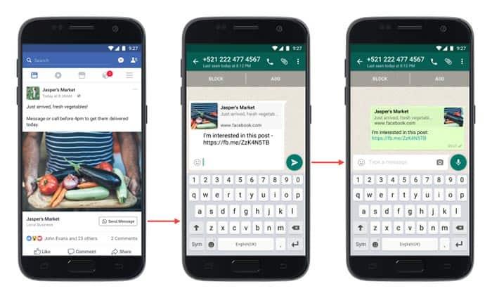 imagen Facebook y WhatsApp unidos