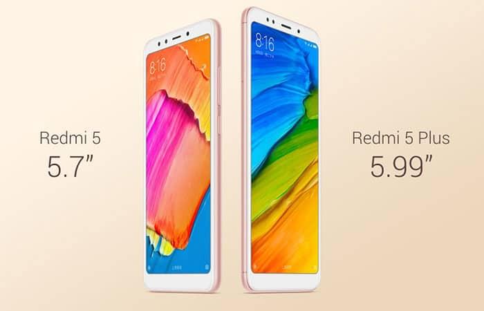 imagen Xiaomi Redmi 5 y Redmi 5 Plus