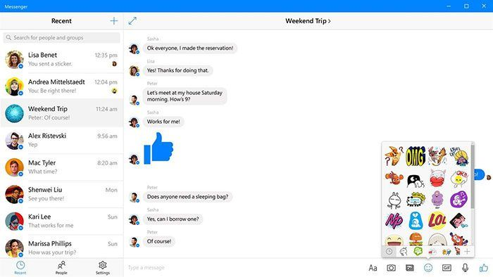 imagen Facebook Messenger para Windows 10