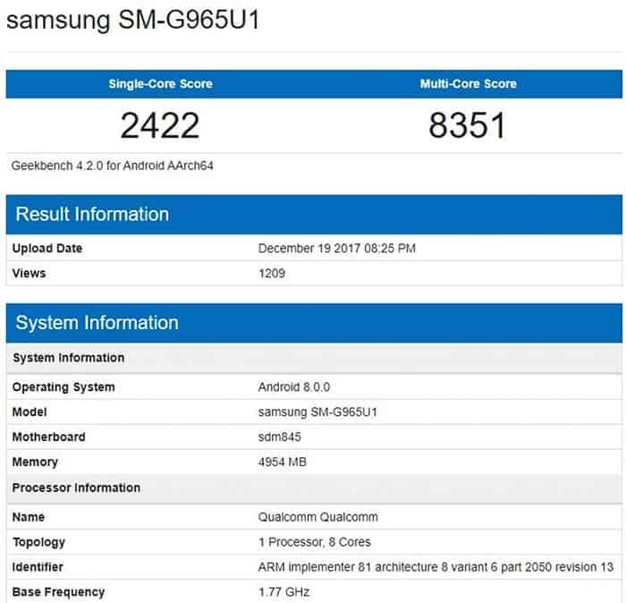 imagen Características del Samsung Galaxy S9+
