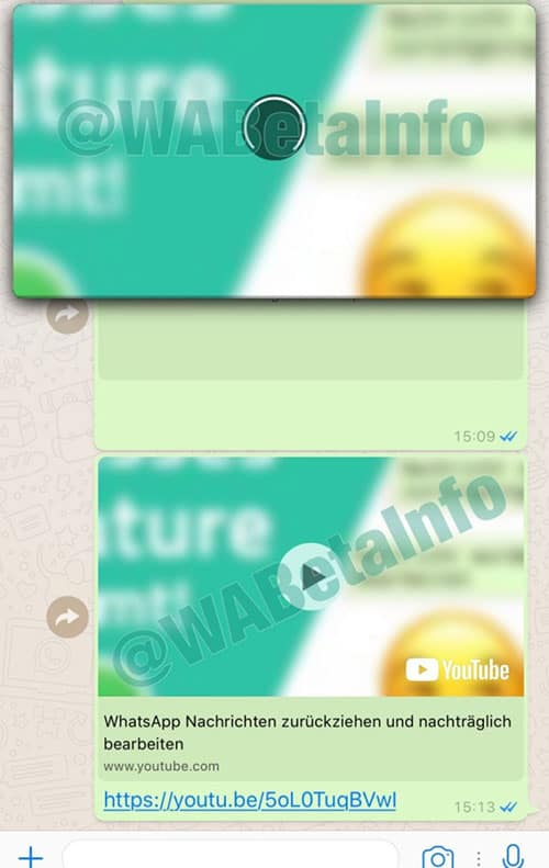 imagen vídeos de YouTube en WhatsApp
