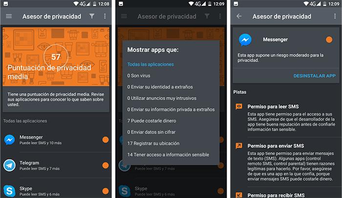 imagen Asesor de Privacidad android