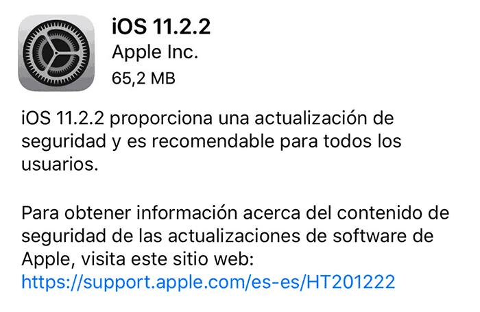 imagen iOS 11.2.2