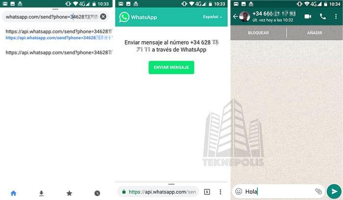 whatsapp enviar mensajes a cualquiera