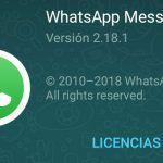 WhatsApp para Android se actualiza a la versión 2.18.1