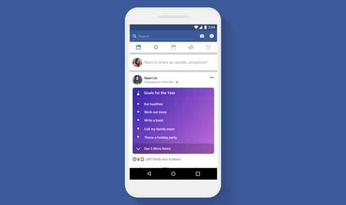 imagen  listas nueva función Facebook