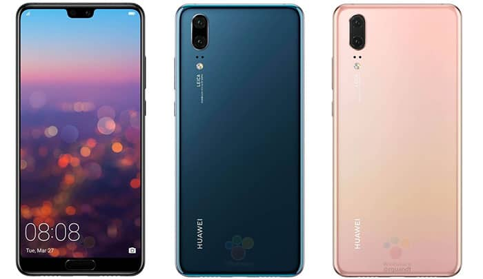 imagen colores Huawei P20