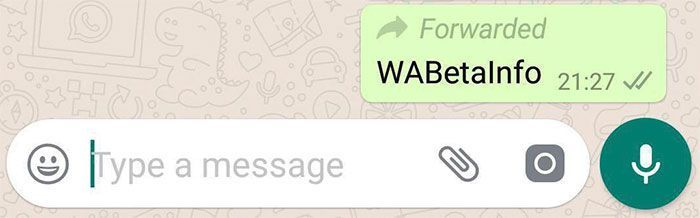Control sobre mensajes reenviados en WhatsApp