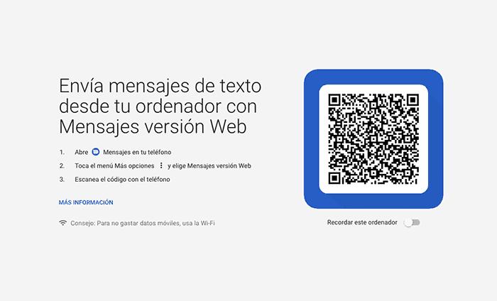imagen Mensajes Android Web
