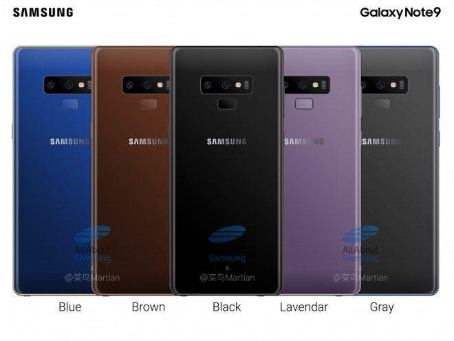 galaxy note 9 colores