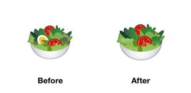 google emoji ensalada vegano