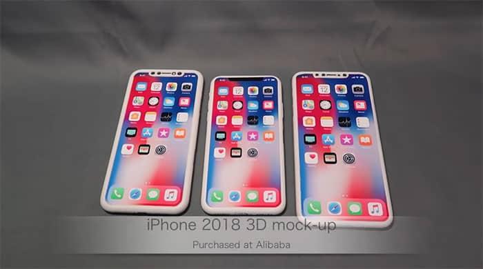 Vídeo de las maquetas de los iPhone 2018