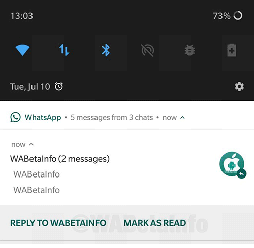 WhatsApp: marcar un mensaje como leído
