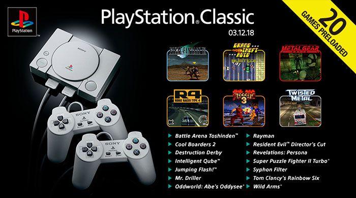20 juegos preinstalados dePlaystation Classic