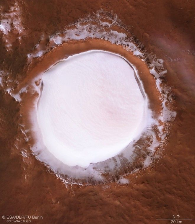 imagen Cráter Korolev en Marte