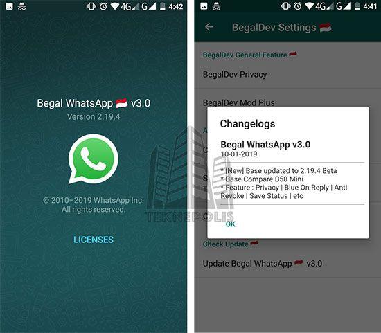 imagen WhatsApp Begal 3.0
