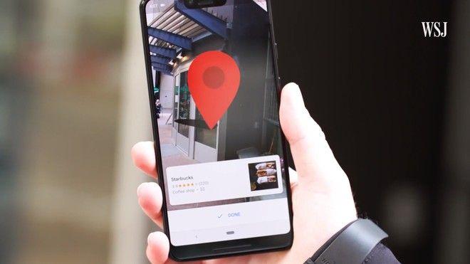 Google Maps Navegación AR