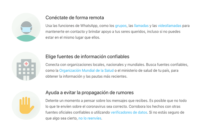 Whatsapp y OMS
