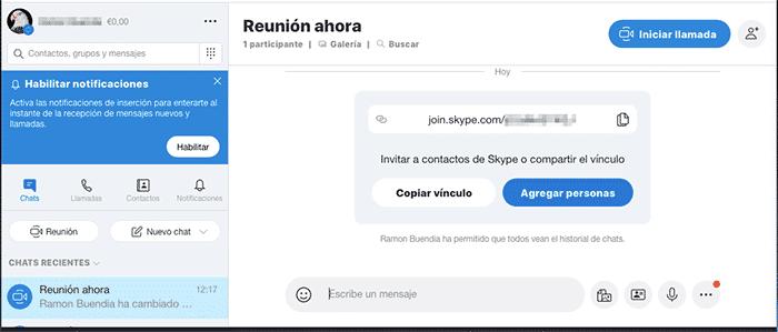 Videollamadas por Skype