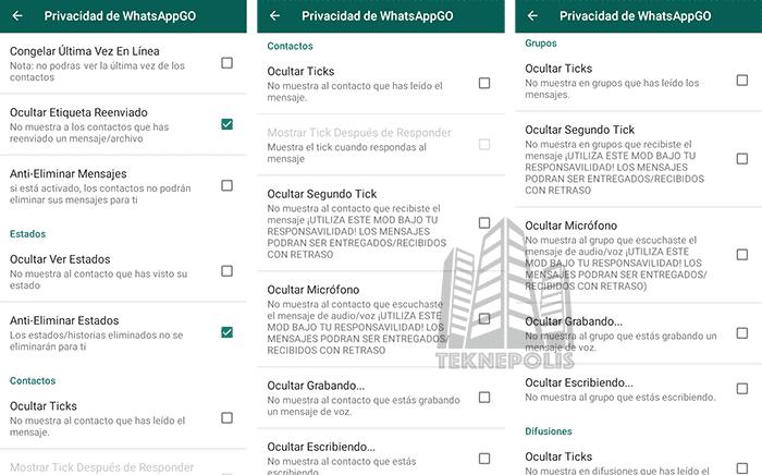 imagen de Privacidad en WhatsApp MOD