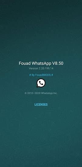 imagen de la última versión Fouad WhatsApp 8.50
