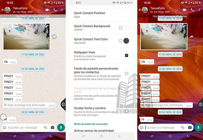 imagen de WhatsApp Transparente en Chats
