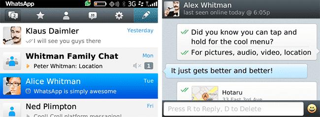 imagen de Actualizar WhatsApp para BlackBerry