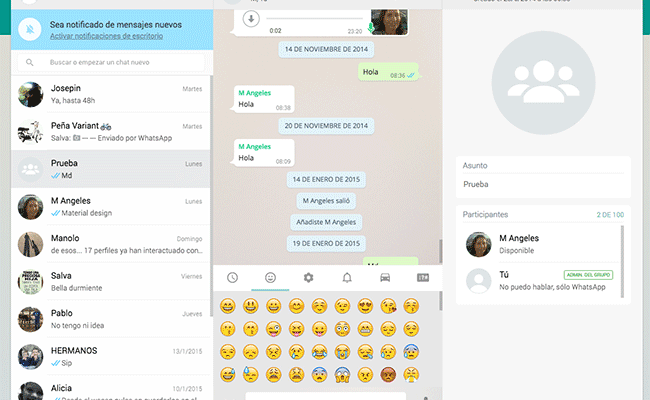 imagen de WhatsApp Web para PC
