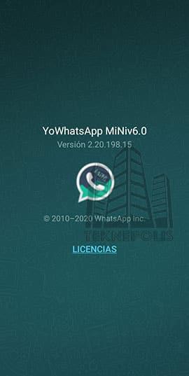 imagen con las últimas novedades de YoWhatsApp Mini 6.0