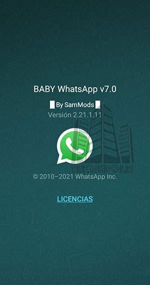 imagen con las novedades de la última versión 7.0 de Baby WhatsApp 2021