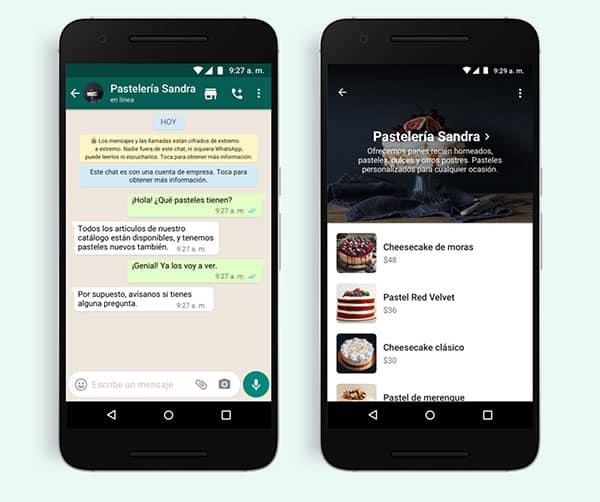 imagen botón de compras en WhatsApp