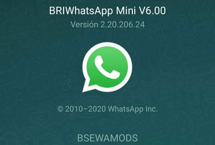 imagen con las últimas Novedades de BriWhatsApp Mini 6.00