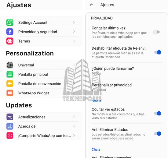 imagen con las características principales de Ra WhatsApp iOS