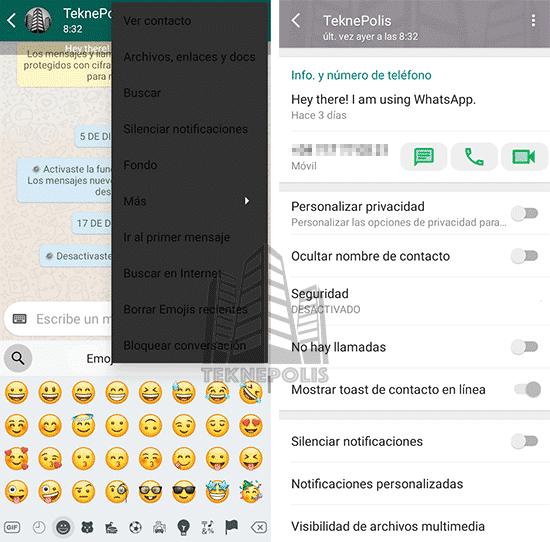 imagen sala de chats WhatsApp Material D2